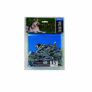 PDQ  Dark Gray  Steel  Dog  Tie Out Chain  Large