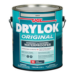 Drylok  Flat  Gray  Latex  Masonry Waterproof Sealer  1 gal.