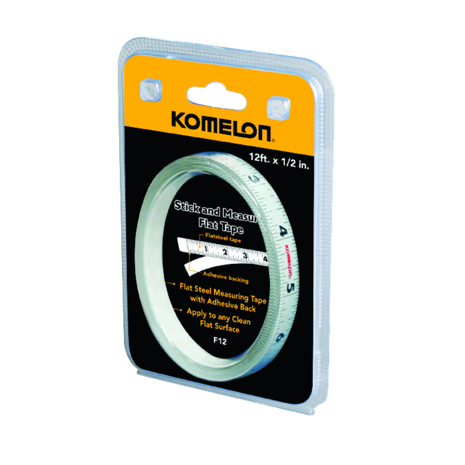 Komelon  0.5 in. W x 12 ft. L Tape Measure  White  1 pk