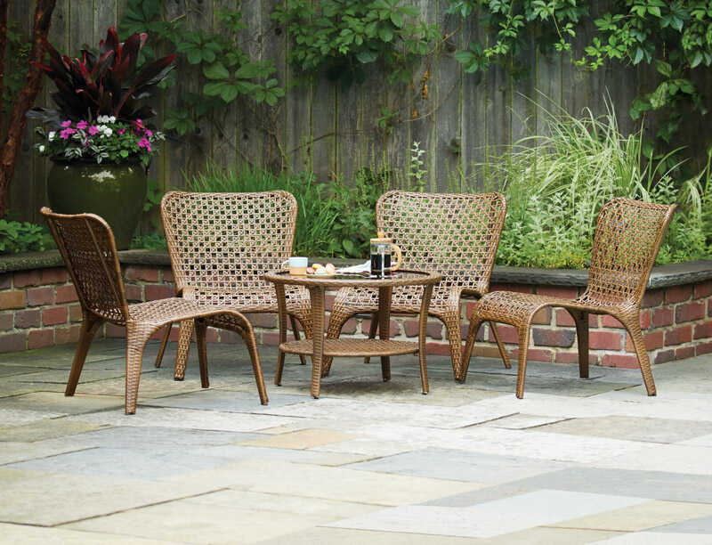 Living Accents 1 Brown Wicker Chat Chair Ace Hardware