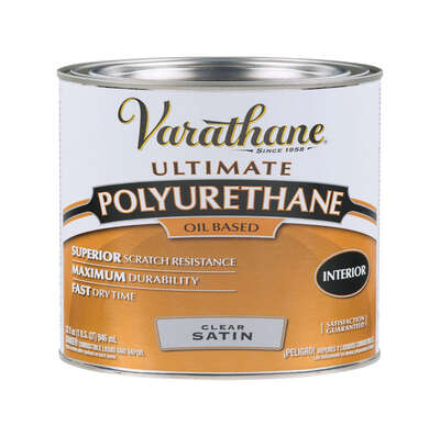 Varathane Satin Clear Oil-Based Polyurethane 1 qt.
