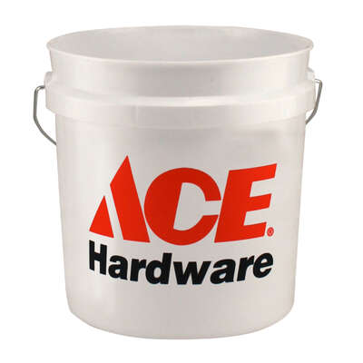 Ace  White  2 gal. Plastic  Bucket