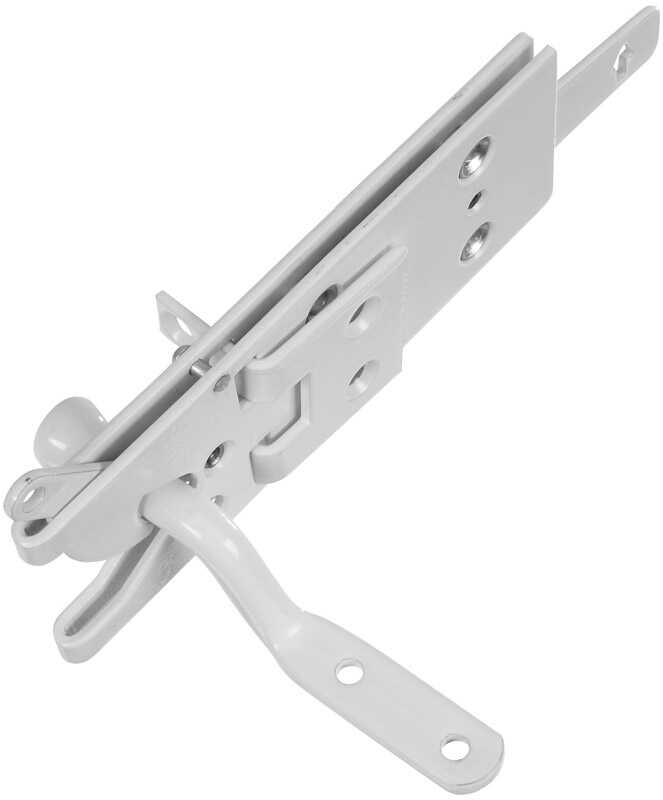 National Hardware  White  Aluminum  Automatic  Gate Latch