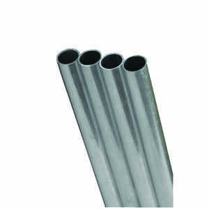 K&S  5/32 in. Dia. x 1 ft. L Round  Aluminum Tube
