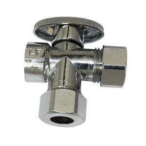 Ace  1/2  FPT   x 1/2   Brass  Dual Shut-Off Valve
