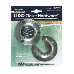 Lido  5-1/2 in. L x 1-5/16 in. Dia. Brushed  Steel  Closet Flange Set