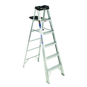 Werner  6 ft. H x 23 in. W Aluminum  Step Ladder  Type IA  300 lb. capacity
