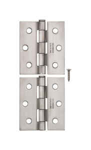 Ace  2-1/2 in. L Stainless Steel  Stainless Steel  Screen Door Hinge  2 pk