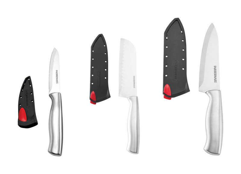 Farberware  Edgekeeper  Stainless Steel  Knife Set  6 pc.