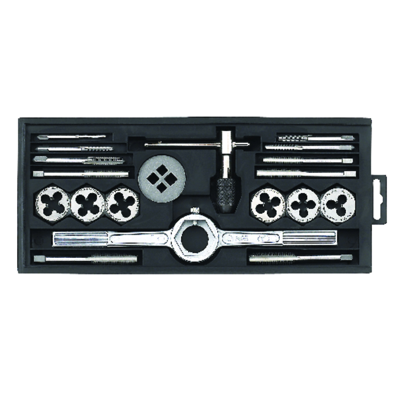 Craftsman  Carbon Steel  Metric  Tap Set  19 pc.