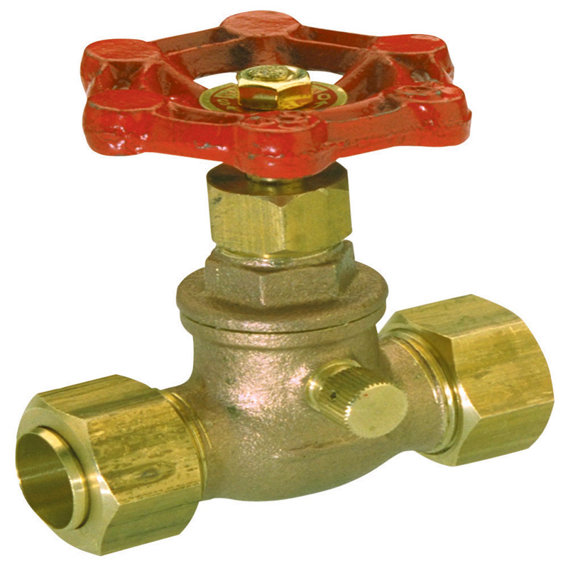 ProLine  1/2 in.  x 1/2 in.  Stop Valve  Stop and Waste  Copper