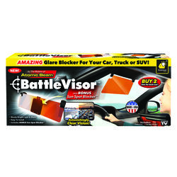 Atomic Beam  BattleVisor  11 in. L x 5 in. W Copper  Glare Blocker