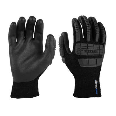 MadGrip Thunderdome XL Nylon Thermal Black Impact Gloves
