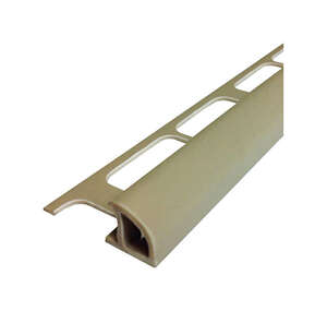 M-D Building Products  96 in. L Prefinished  Beige  Bullnose  PVC