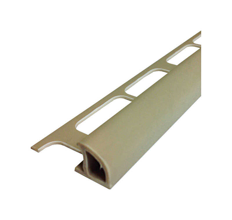 M-D Building Products  96 in. L Prefinished  Beige  PVC  Bullnose