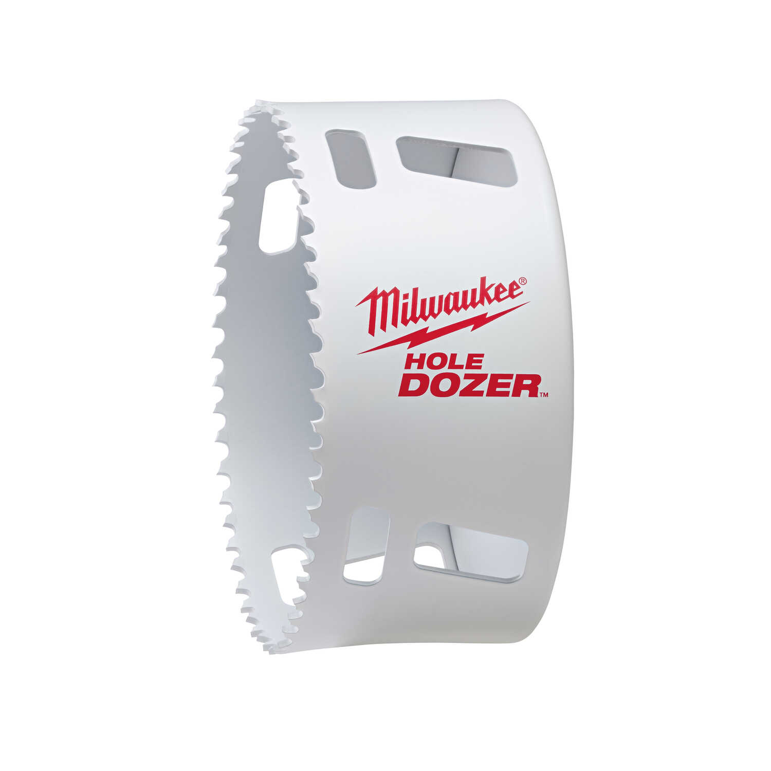 Milwaukee  Hole Dozer  4 in. Dia. x 2.6 in. L Hole Saw  1/4 in. 1 pc. Bi-Metal