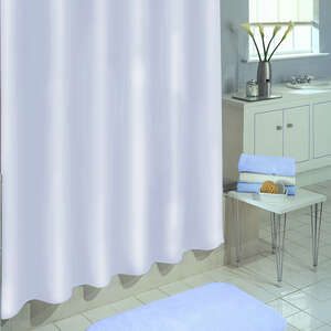 Excell  70 in. H x 72 in. W White  Solid  Shower Curtain Liner
