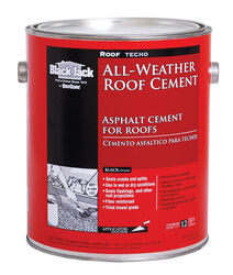 Black Jack  Gloss  Black  Patching Cement  All-Weather Roof Cement  1 gal.