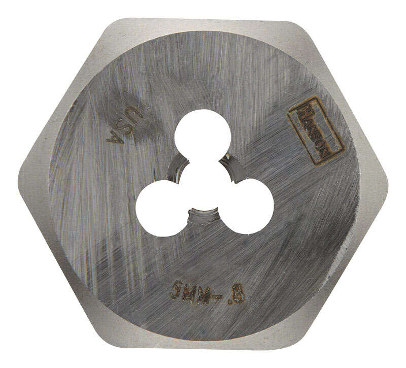 Irwin  Hanson  High Carbon Steel  Metric  Hexagon Die  5mm-0.80