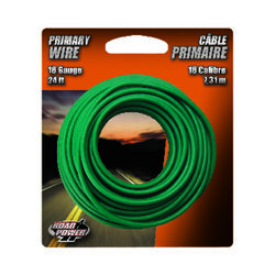 Coleman Cable  24 ft. 16 Ga. Primary Wire  Green