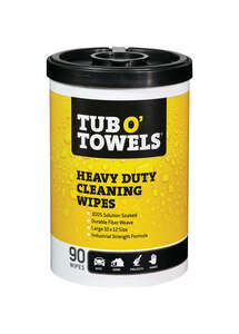 Tub O'Towels  Heavy Duty  Fiber Weave  Cleaning Wipes  12 in. W x 10 in. L 90 pk