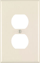 Leviton  Almond  1 gang Plastic  Duplex Outlet  Wall Plate  1 pk