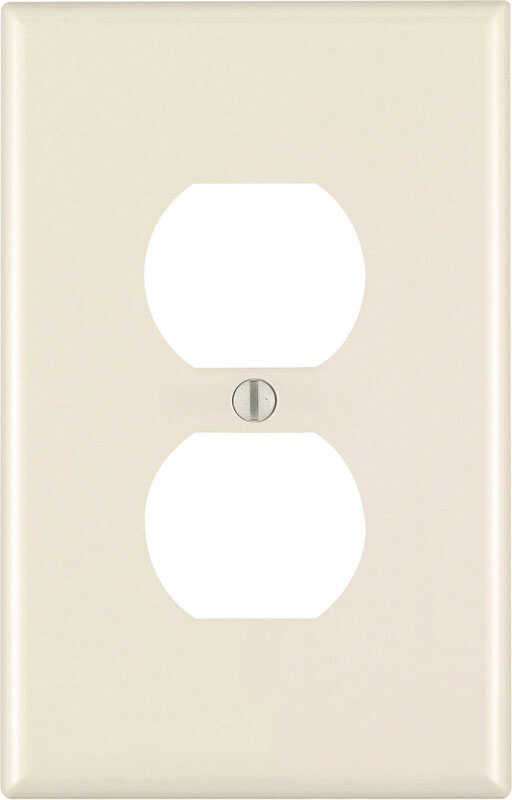 Leviton  Almond  1 gang Plastic  Wall Plate  Duplex Outlet  1 pk