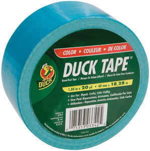 Duck  1.88 in. W x 20 yd. L Duct Tape  Aqua