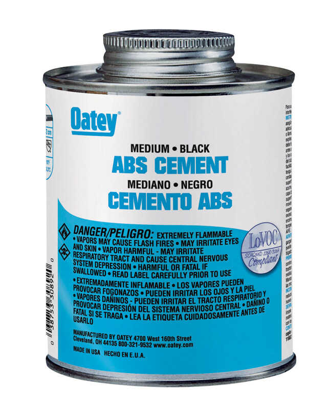 Oatey  Black  Cement  For ABS 16 oz.