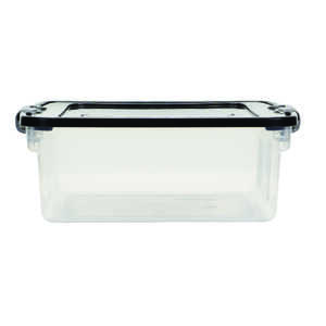 Homz  Latching  6-1/8 in. H x 11.25 in. D x 16 1/4 in. W Storage Box  Stackable