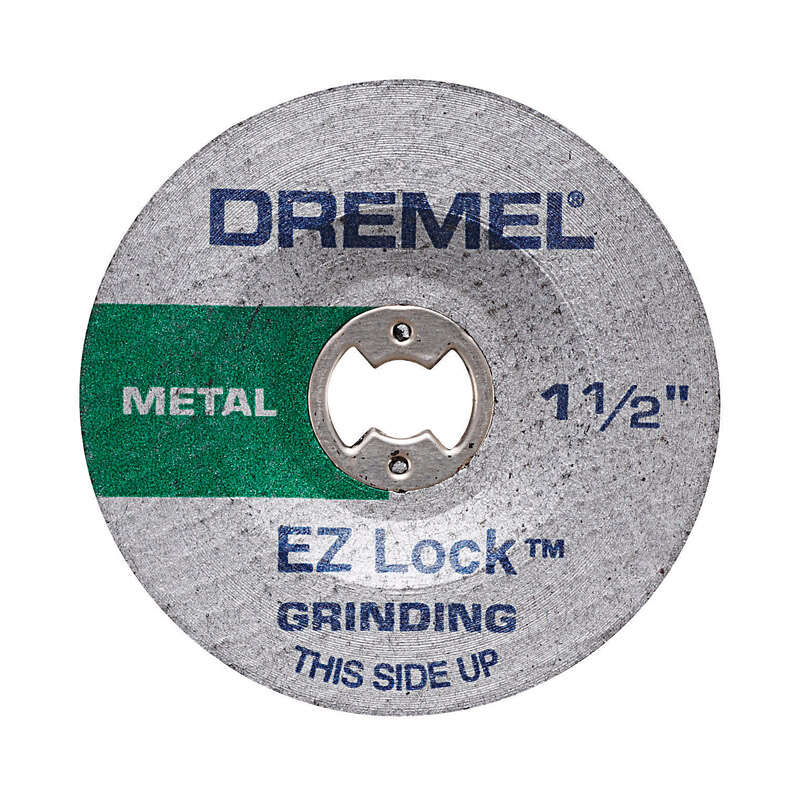 Dremel EZ Lock 1-1/2 in. Dia. x .045 in. thick Metal Grinding Wheel 2 pc.
