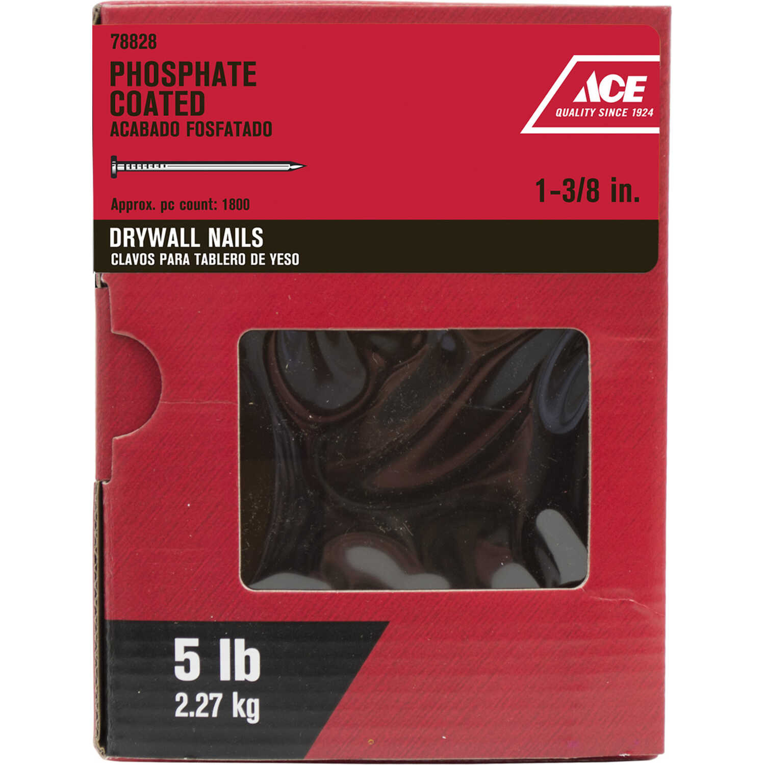 Ace  1-3/8 in. L Drywall  Nail  Smooth Shank  5 lb.