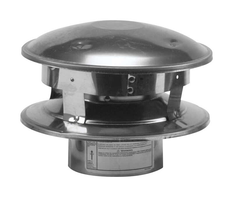 Selkirk  4 in. Dia. Stainless Steel  Termination Cap