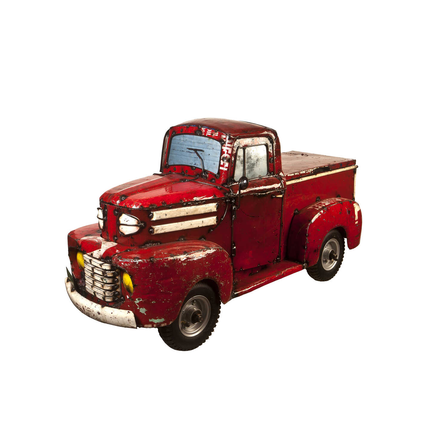 Think Outside  Pick-Up Truck  Christmas Decoration  Metal  1 pk Red