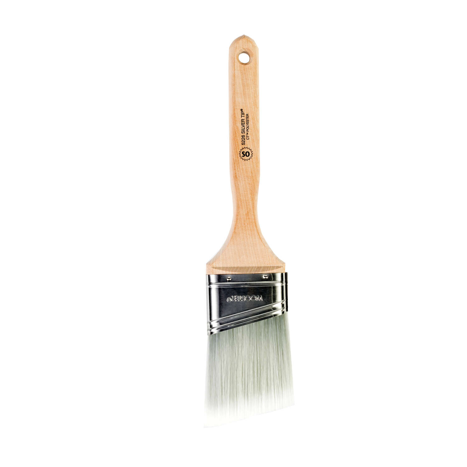 Wooster  2-1/2 in. W Silver Tip  Angle  Paint Brush  Polyester Blend