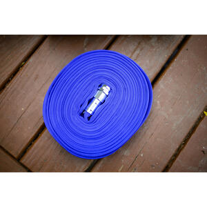 Swan  1/2 in. Dia. x 50 ft. L Flat  Blue  Garden Hose