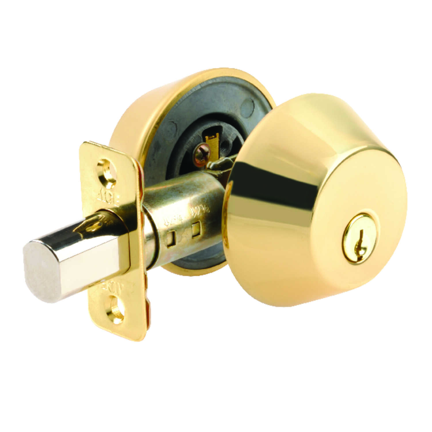 Ace  Polished Brass  Double Cylinder Deadbolt
