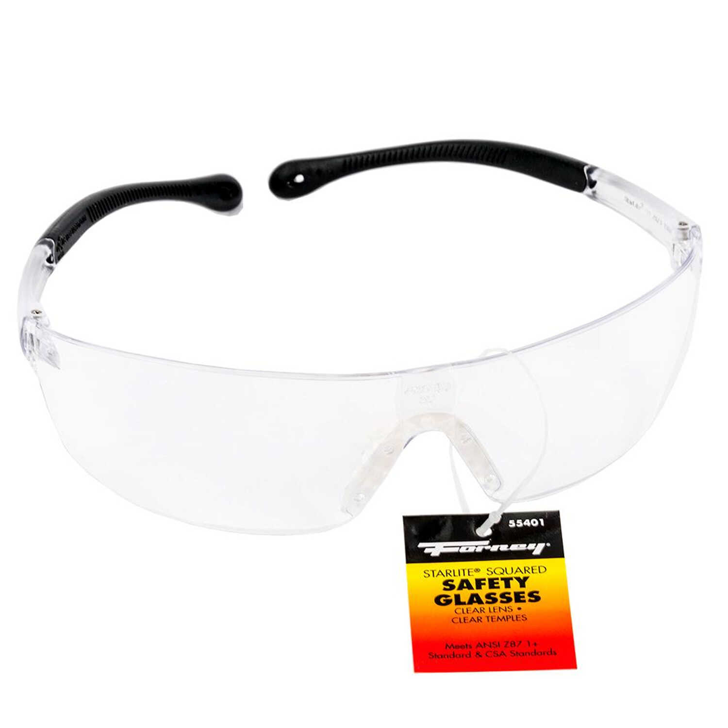 Forney  StarLite Squared  Safety Glasses  Clear Lens 1 pc.