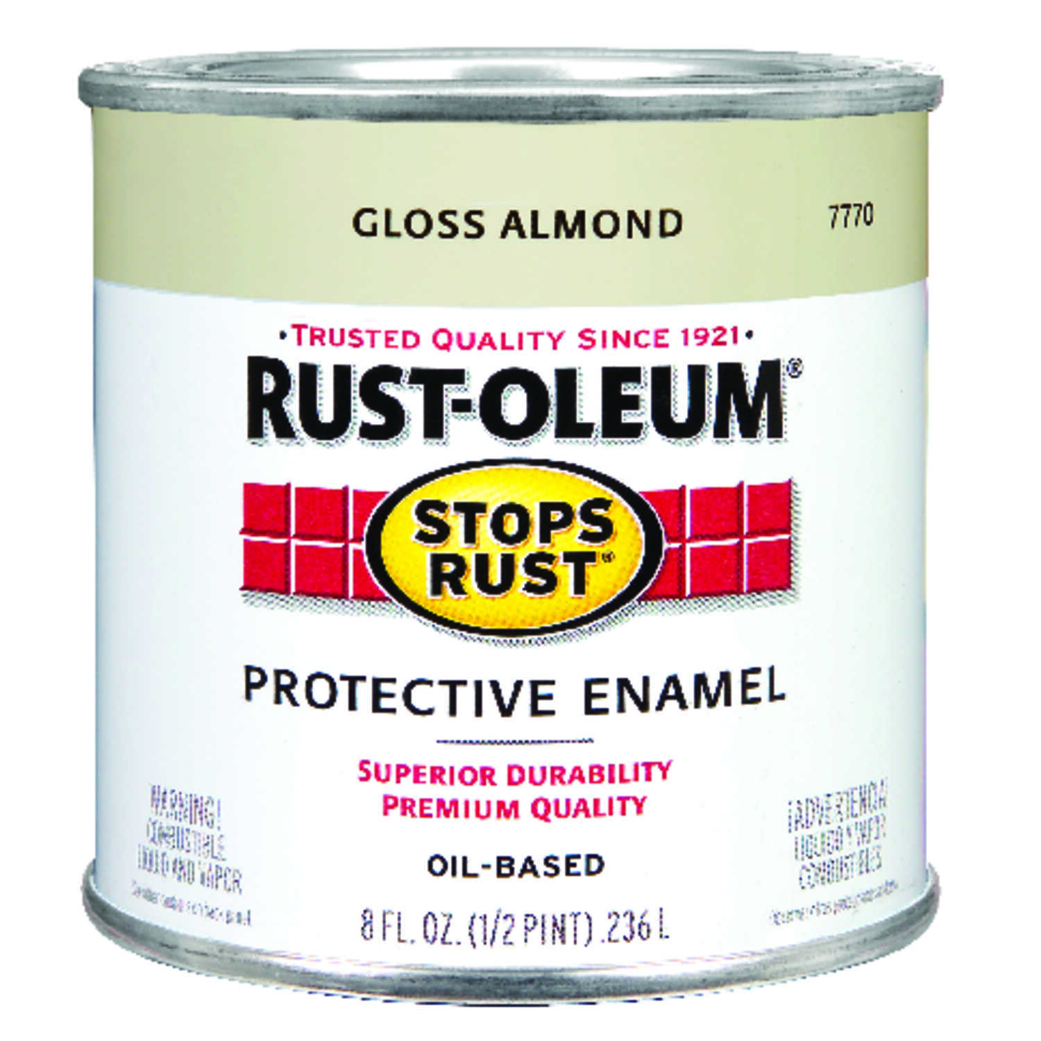 Rust-Oleum  Indoor and Outdoor  Gloss  Almond  Protective Enamel  0.5 pt.
