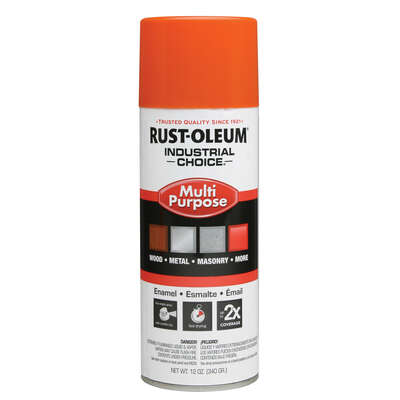 Rust-Oleum  Industrial Choice  OSHA Safety Orange  Multi-Purpose Enamel Spray  12 oz.