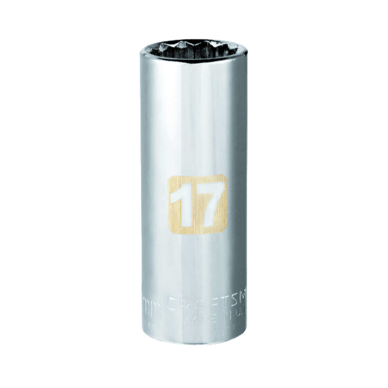 Craftsman  17 mm  x 3/8 in. drive  Metric  12 Point Deep  Socket  1 pc.