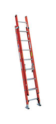 Werner 16 ft. H x 19 in. W Fiberglass Extension Ladder Type 1A 300 lb.