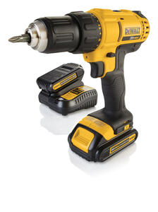 DeWalt  20 volt Brushed  Cordless Compact Drill/Driver  Kit  1/2 in. 1500 rpm