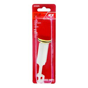 Ace  1-1/4 in. Dia. Pop Up Stopper  Plastic  Polished Brass