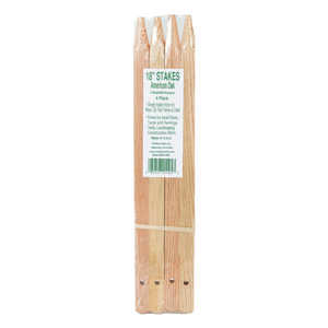 Madison Mill  18 in. H x 0.9 in. W Oak  Landscaping Stakes  4 pk