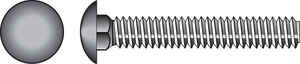 Hillman  1/4 in. Dia. x 3-1/2 in. L Zinc-Plated  Steel  Carriage Bolt  100 pk