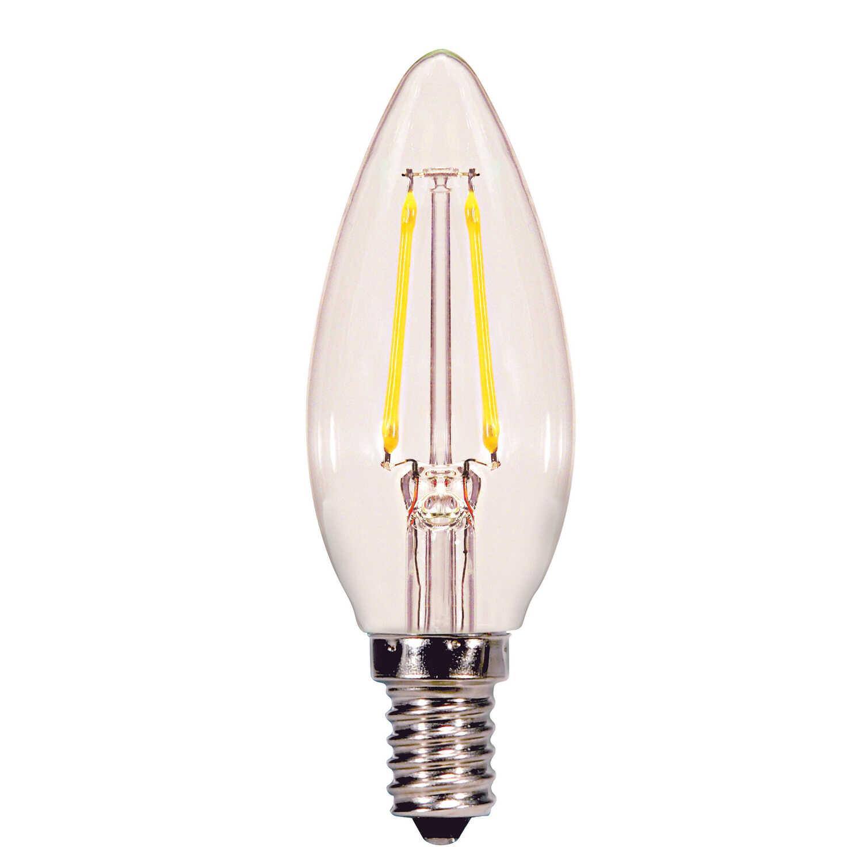 Satco B11 E12 Candelabra Led Bulb Soft White 60 Watt