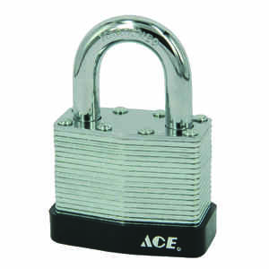 Ace  1-9/16 in. W x 7/8 in. L x 1-5/16 in. H Steel  Padlock  1 pk Double Locking  Keyed Alike