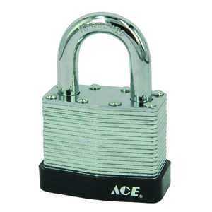 Ace  1-9/16 in. W x 1-5/16 in. H Double Locking  Steel  Padlock  1 pk Keyed Alike