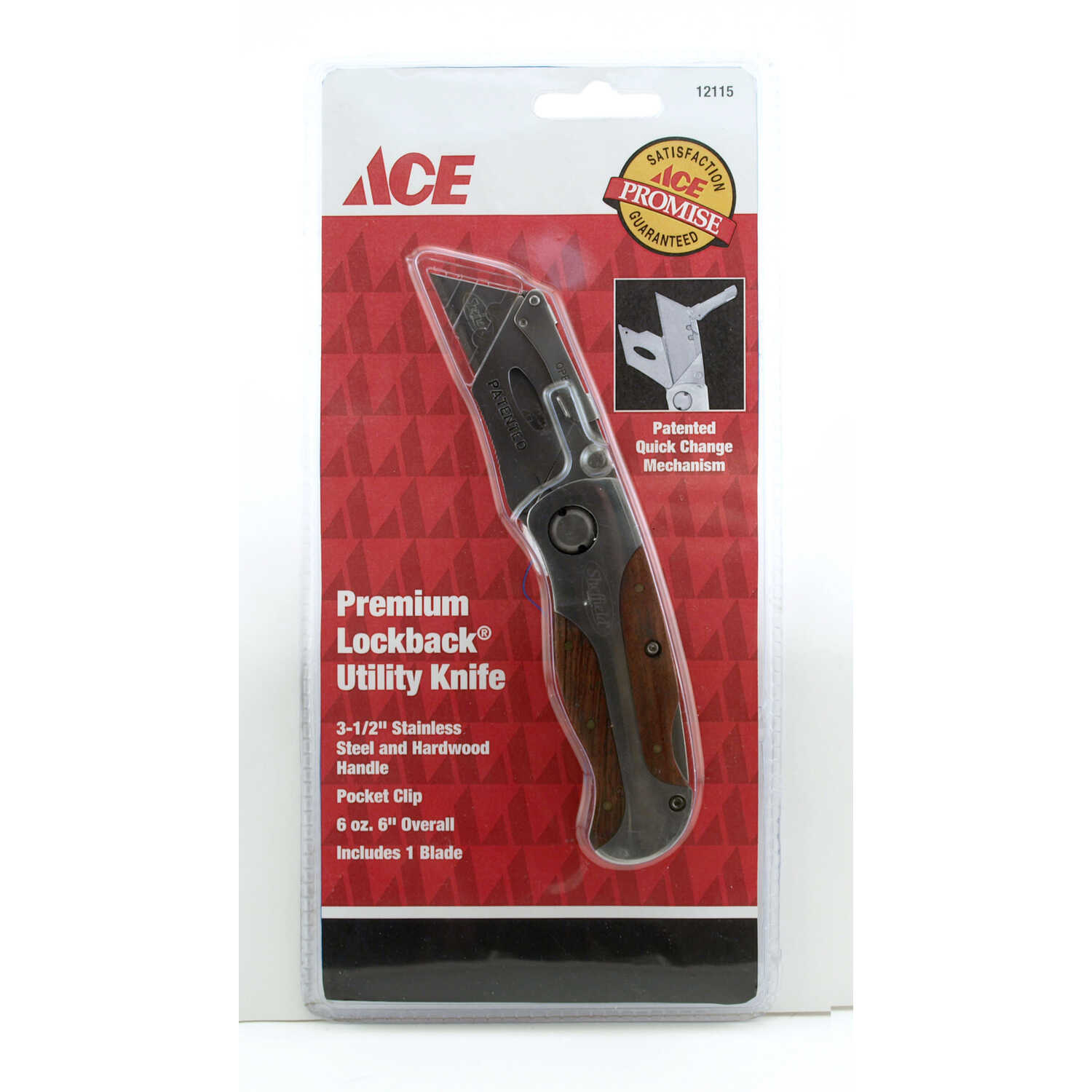 Ace  6 in. Utility Knife  Brown